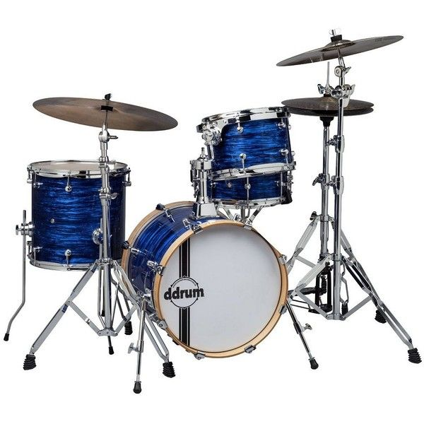 ddrum SE Flyer Drum Bop Kit, Blue Pearl (£430) ❤ liked on Polyvore featuring blue pearl