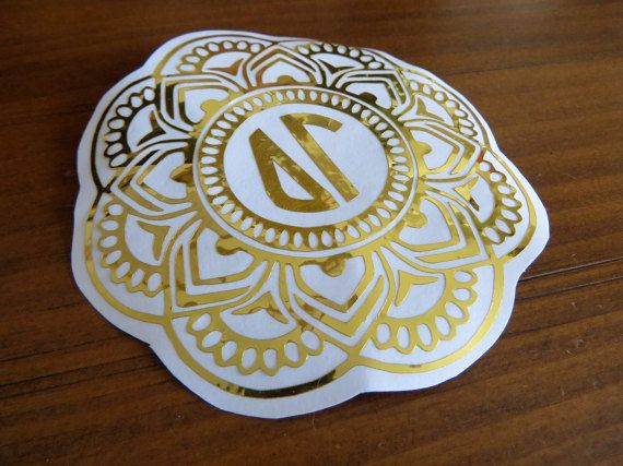 Custom Round Decal Gold Silver Black White Pink Mint Many