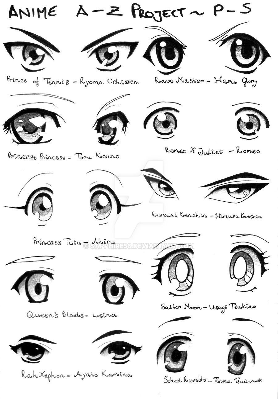 Anime AZ Project PS by Sapphire56 Girl eyes drawing