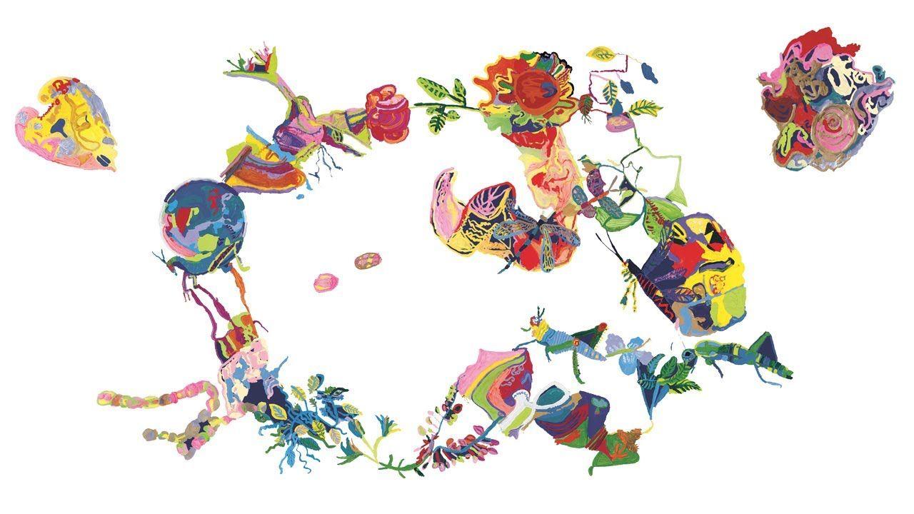 La pace è un pensiero. Peace is a thought.  Graphics Children of Municipal Schools Reggio Emilia