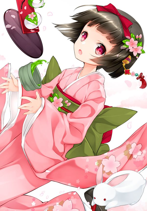 World Of Two Dimensional In Japan Cute Girl Anime Manga Illustration アニメ着物 アニメの女の子 着物 アニメの女の子