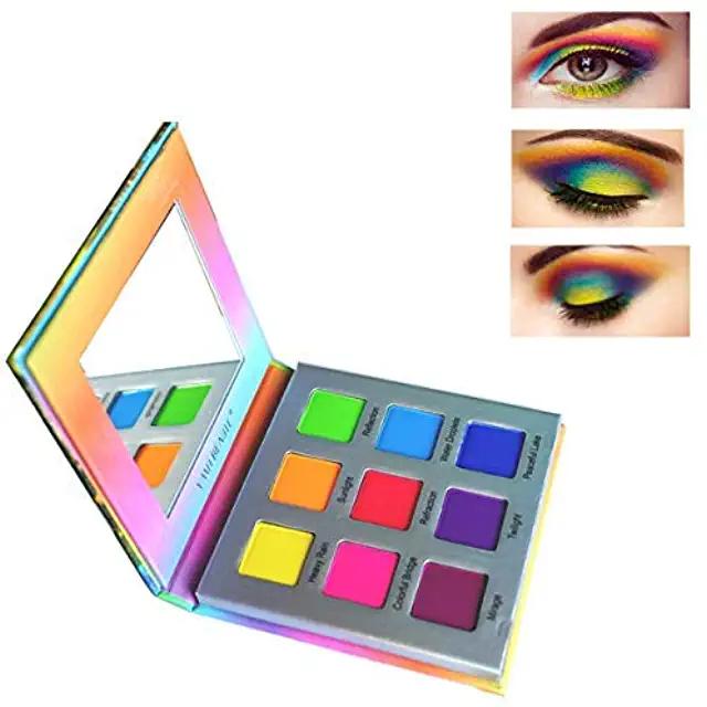 blue makeup Rainbow eyeshadow, Makeup