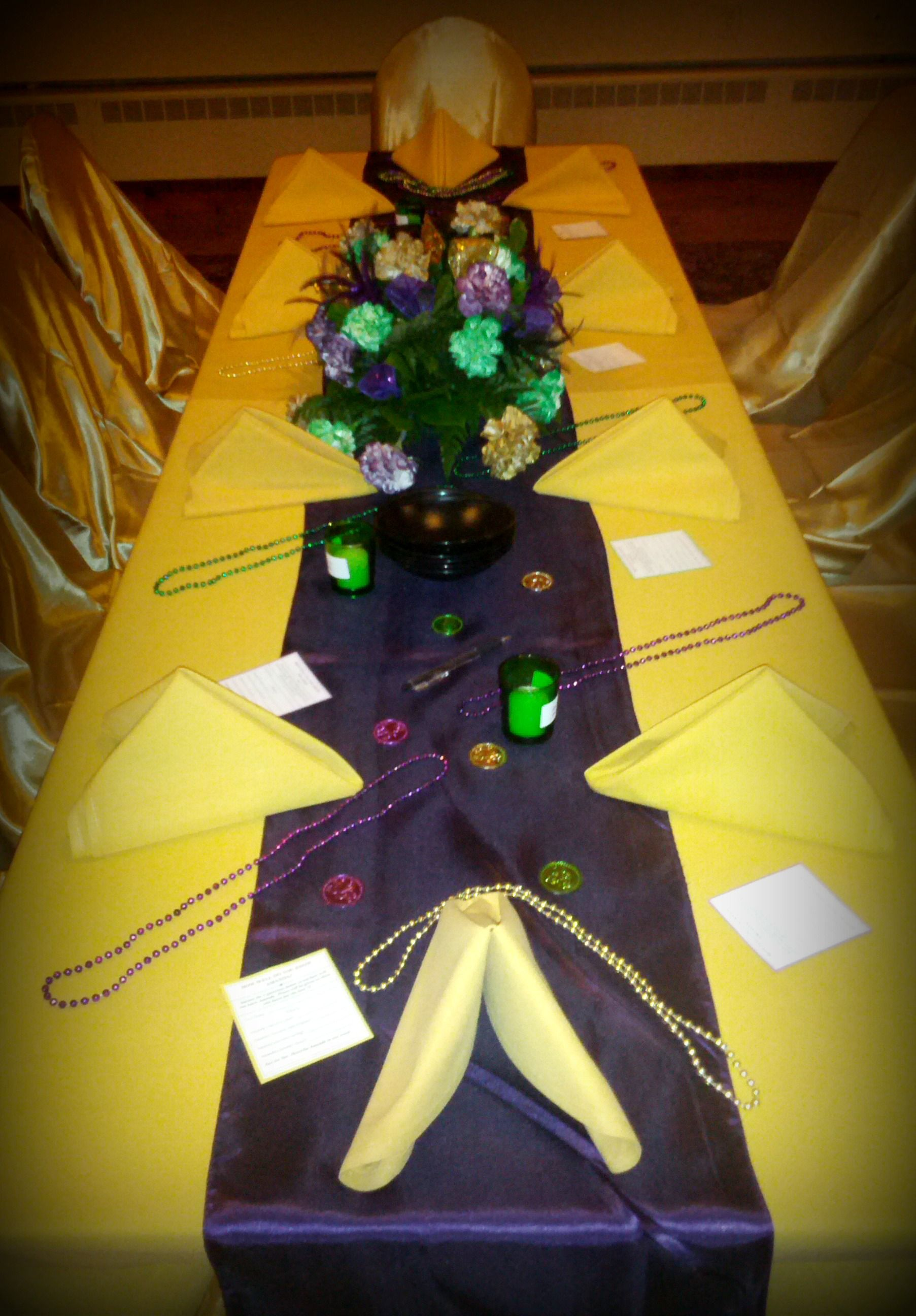 The Birthday Girl And Her Court S Table Decorated With