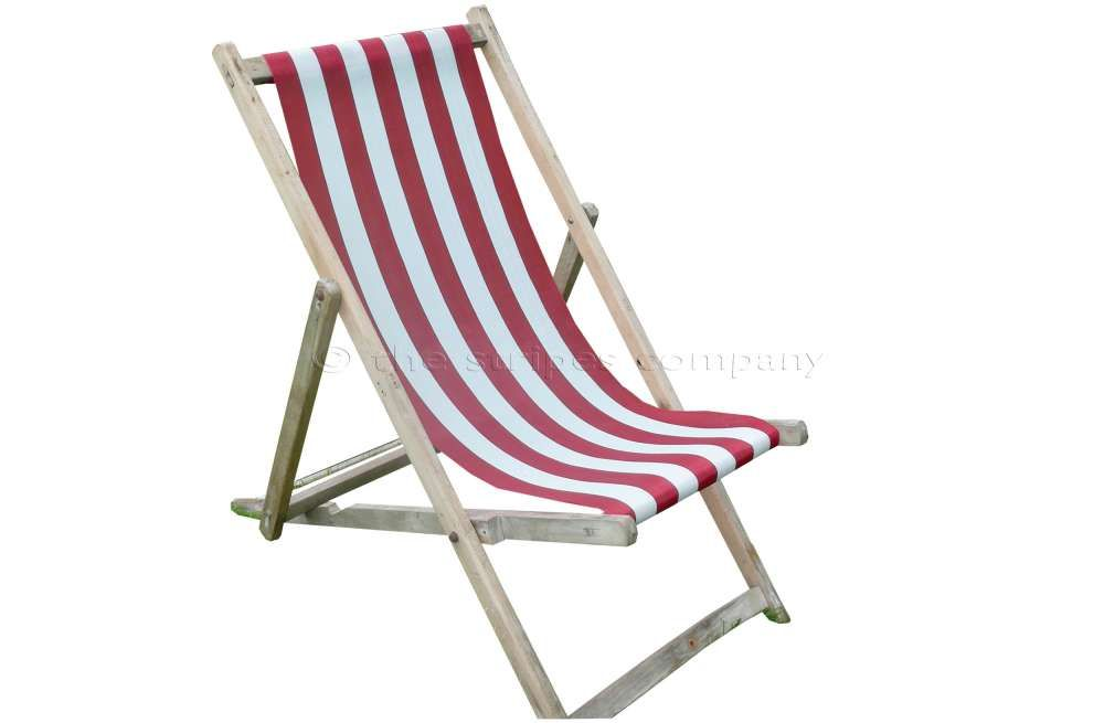 Buy Blackpool Deckchairs With New Red And White Sling With Images