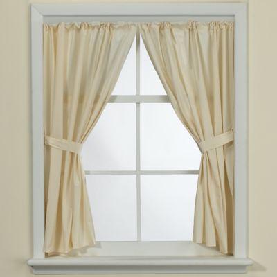Bone Vinyl Bath Window Curtain Panel Pair Bath Window Window Curtains Panel Curtains