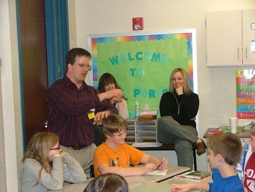 Teaching a writing workshop in Veedersburg, Indiana