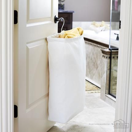 Doorknob Hanging Laundry Bag Hamper White Canvas Don T Have Room