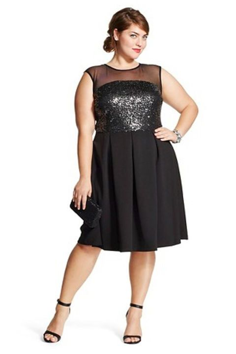 7de26c1e00d New Year Dresses - NYE Outfit - Sleeveless Mesh Sequin Dress (Plus Size)