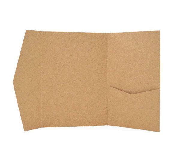 Buste Pocket Carta Craft Ideali Per Partecipazioni Inviti Matrimonio Pocket Kraft Paper Envelopes Shabby Rustic Chic Wedding Diy Envelope Etsy Crafts