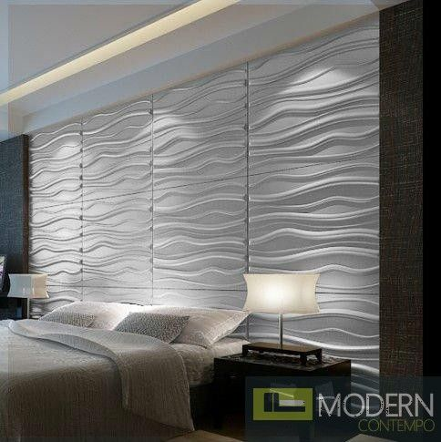 Decorative Tiles For Bedroom Walls Breeze  Textured Glue On Wall 3D Tiles  Box Of 6  Design