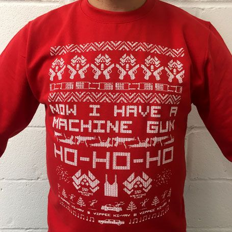 dark bunny tees insanely popular die hard christmas jumper is back perfect for that office xmas party or simply for any movie fan to stay festive