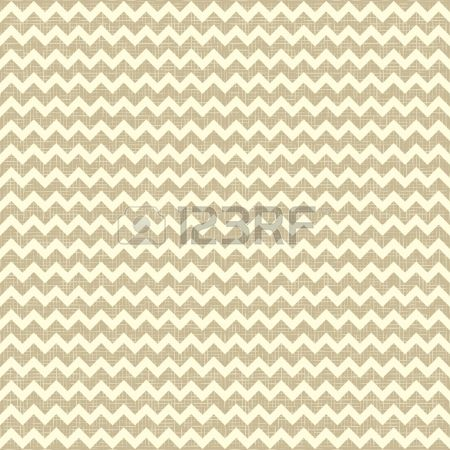 Seamless chevron pattern on linen canvas background Vintage rustic burlap zigzag Stock Vector