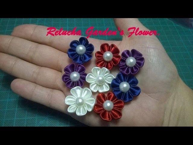 #42 - MINE Flor de Cetim . DIY - Satin Flower.Fiore di Raso.kanzashi.Satin-Blume.サテン花
