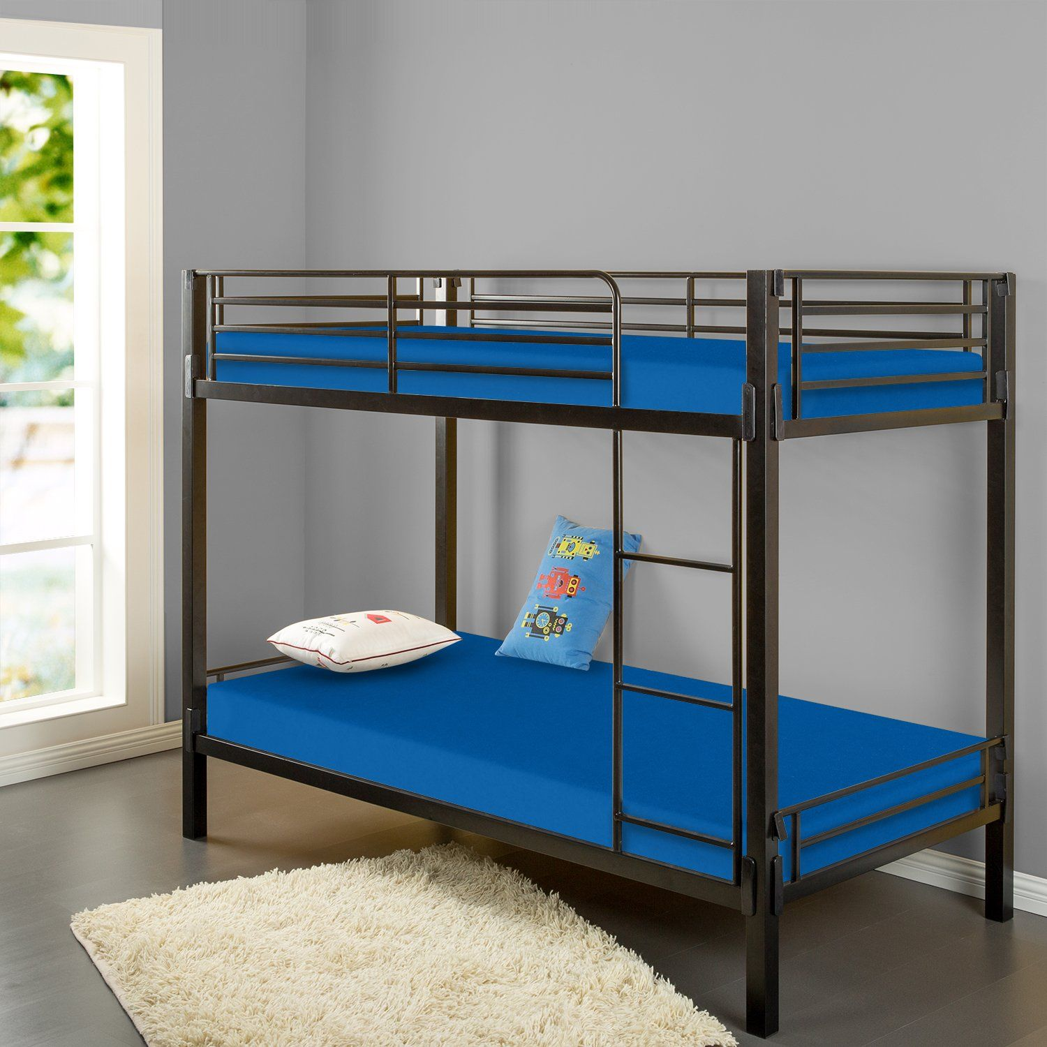 Zinus Memory Foam 5 Inch Bunk Bed Trundle Bed Day Bed Mattress Twin Blue Affiliate Mattress Bunk Bed Mattress Cool Bunk Beds Bunk Beds