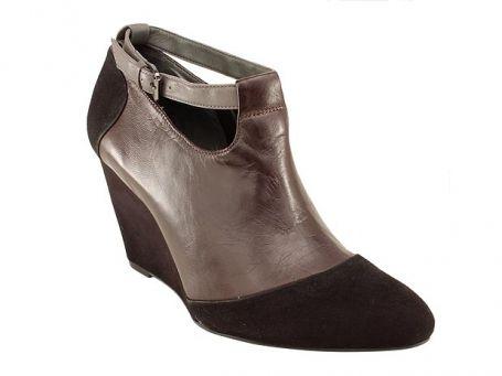 Com detalhes de camurça - Ankle Boots
