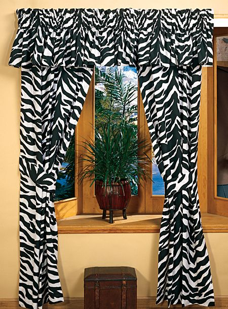 Buy the zebra black white collection rod pocket drapes or valance and more quality fishing hunting and outdoor gear at bass pro shops