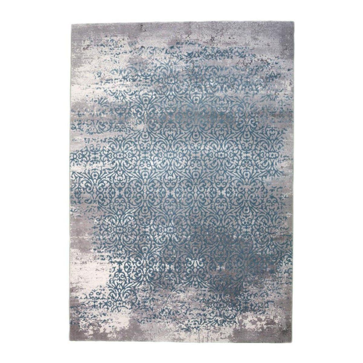 Petit Salle De Bain Design ~ Tapis Allotapis Bleu Vintage En Polyester Kivi La Redoute Tapis