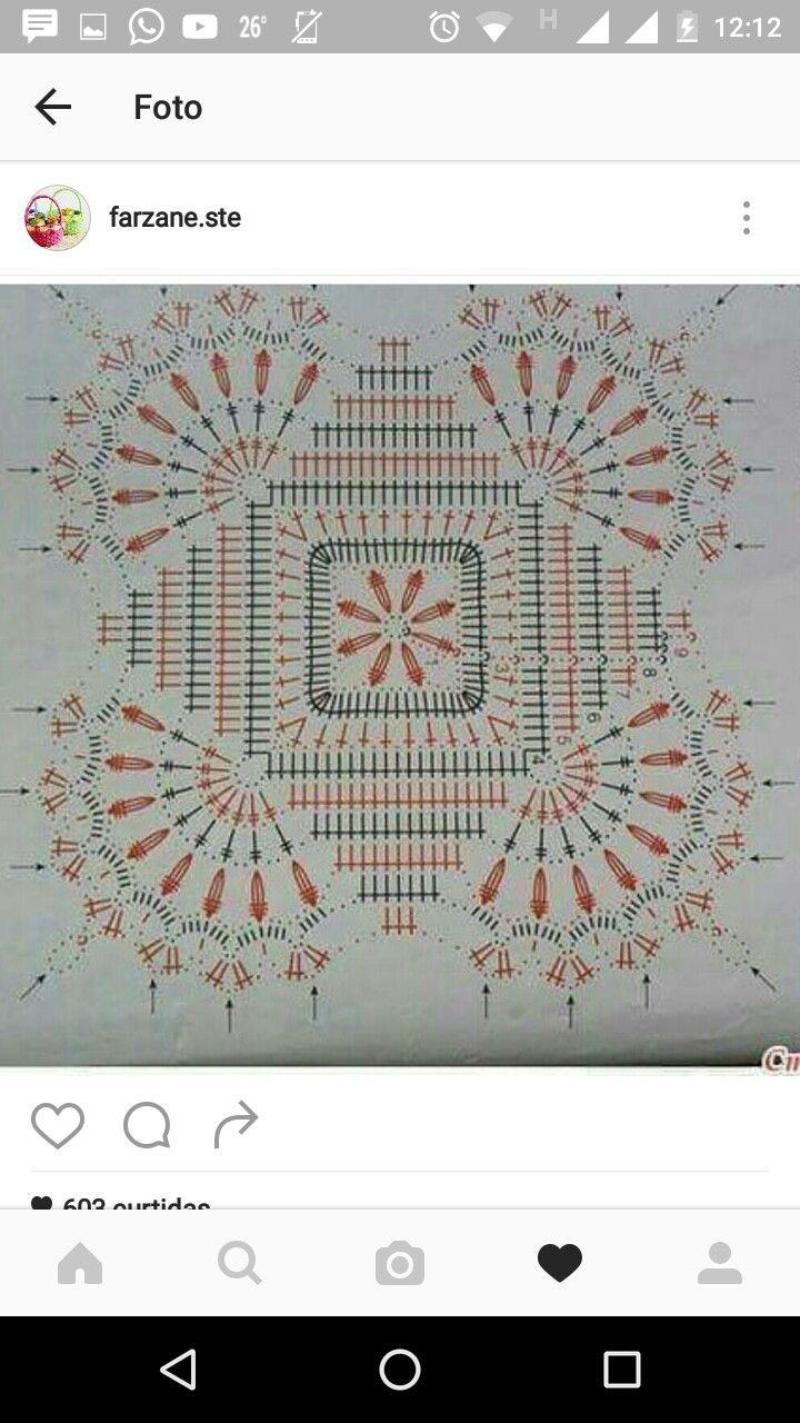 Square quadrado crochê