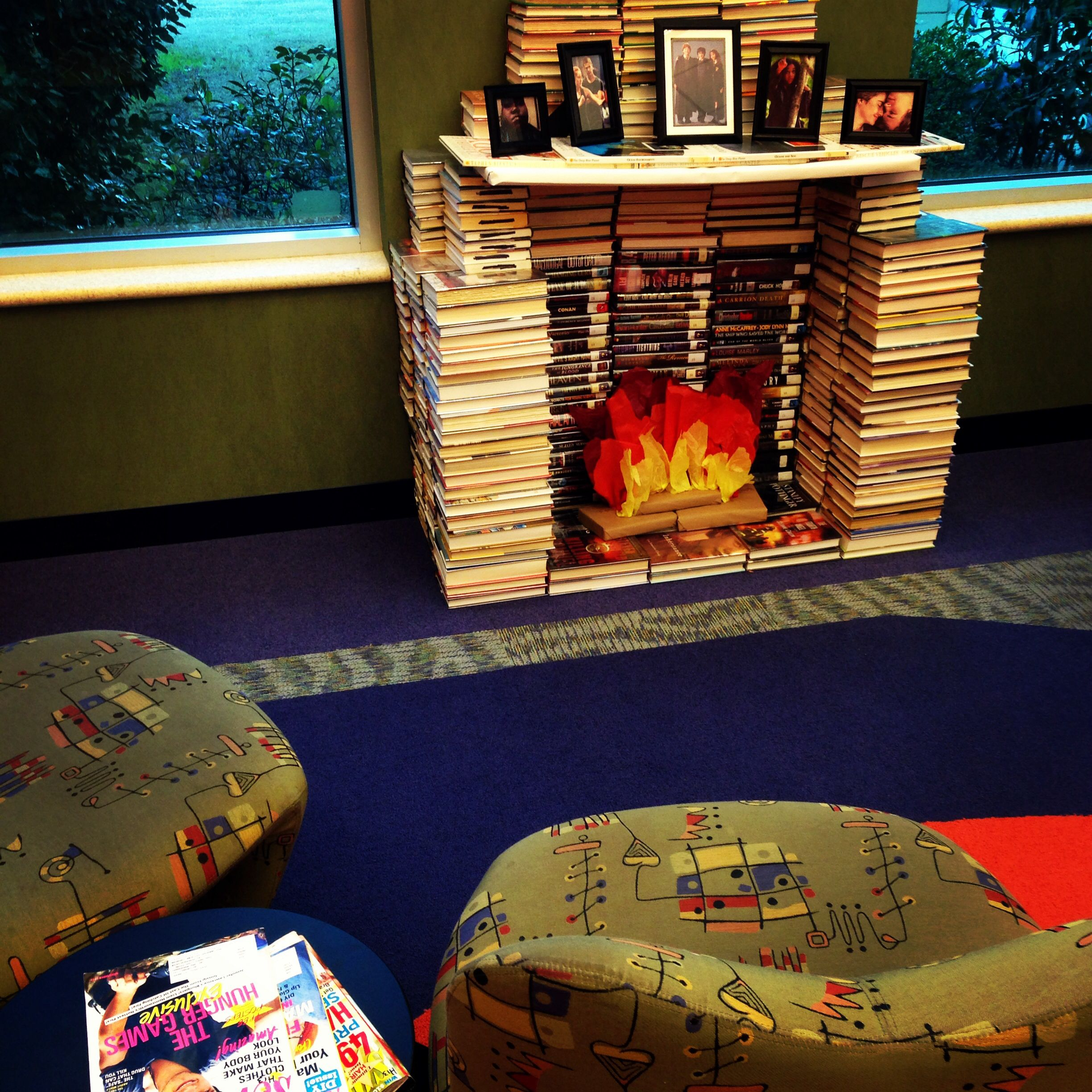Fireplace Made From Books In The Teen Zone Of The Terrebonne Parish Library 39 S Main Branch Houma
