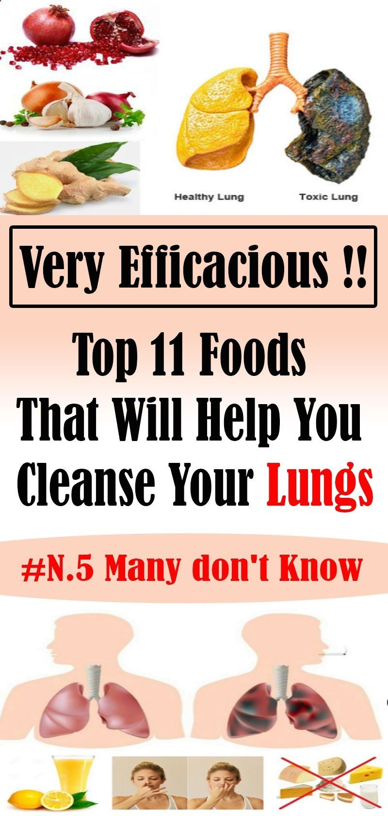 Top 11 Foods That Will Help You Cleanse Your Lungs With Images Lungs Health Health Remedies Health