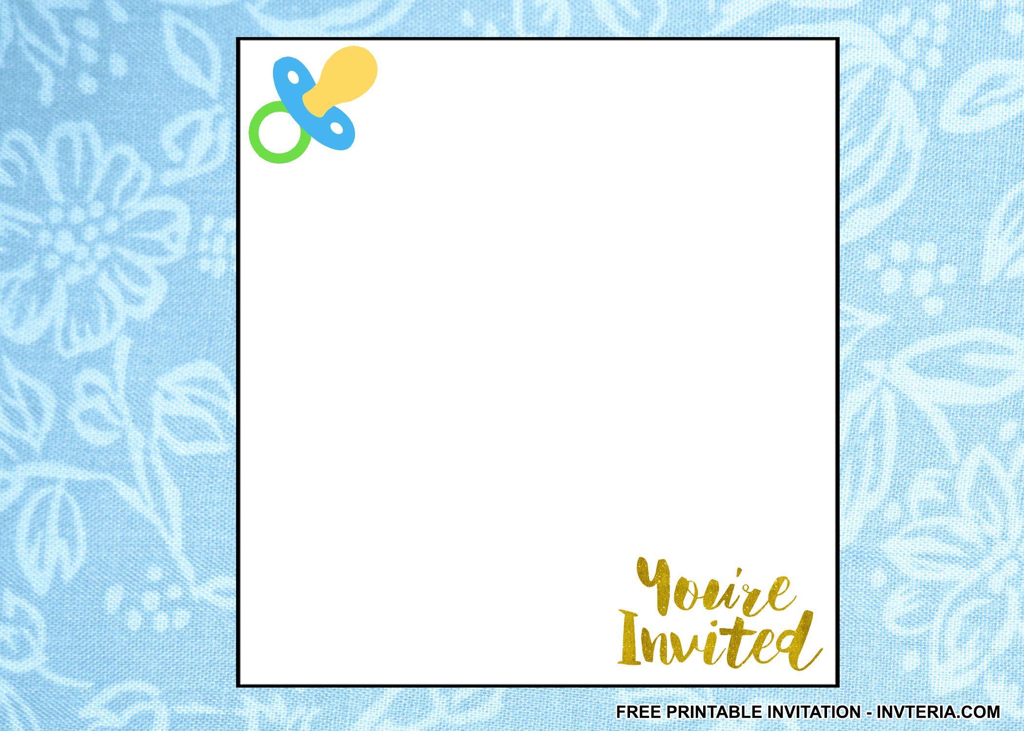 Free Printable Baby 1st Birthday Invitations