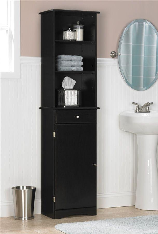 Repurpose For A Liquor Cabinet, Black Bathroom Storage Cabinet