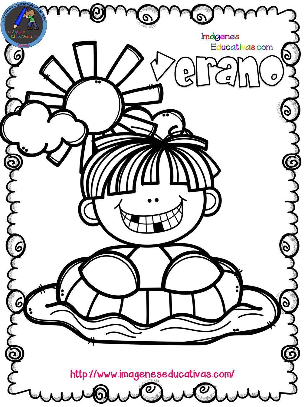 Mi libro para colorear en verano   niños   Pinterest   Pre school