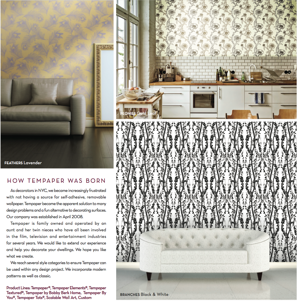 The Story Behind Tempaper Tempaper Is Self Adhesive Removable Wallpaper That Is 100 Made In The Usa And Eco Friendly Removable Wallpaper Home Decor Design