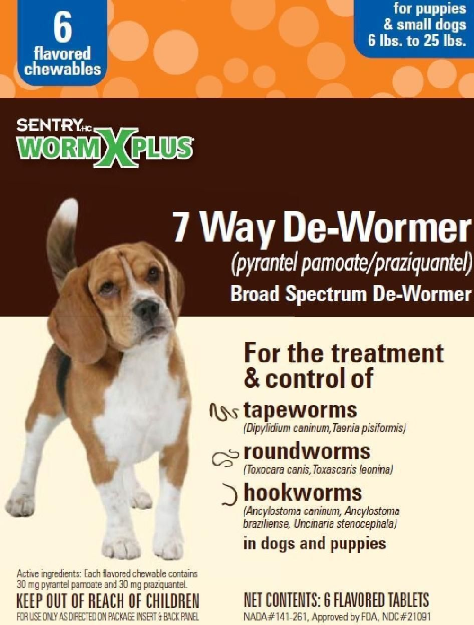 Sentry Worm X Plus 7 Way Broad Spectrum DeWormer Puppies