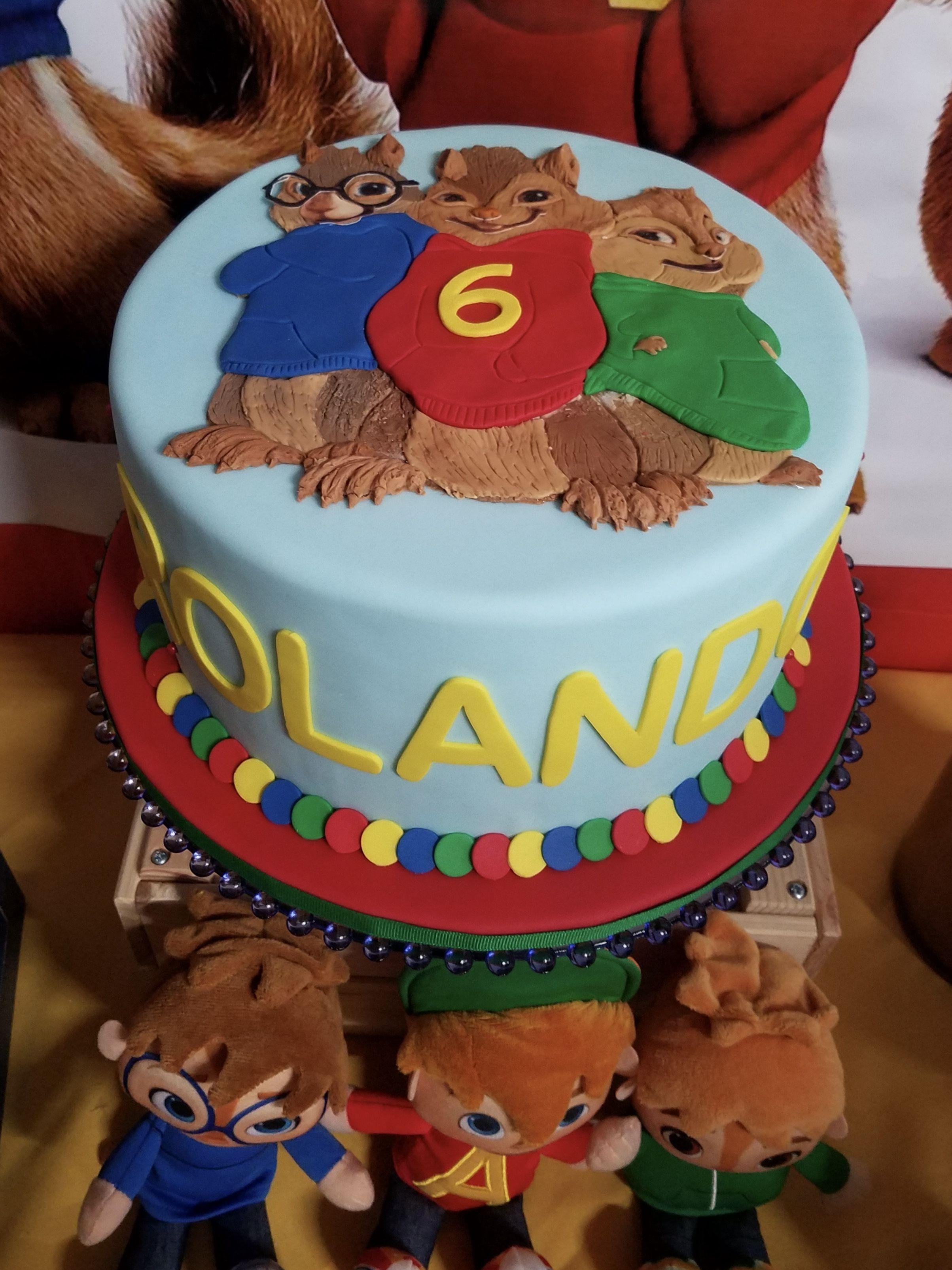 Alvin And The Chipmunks Theme Birthday Cake