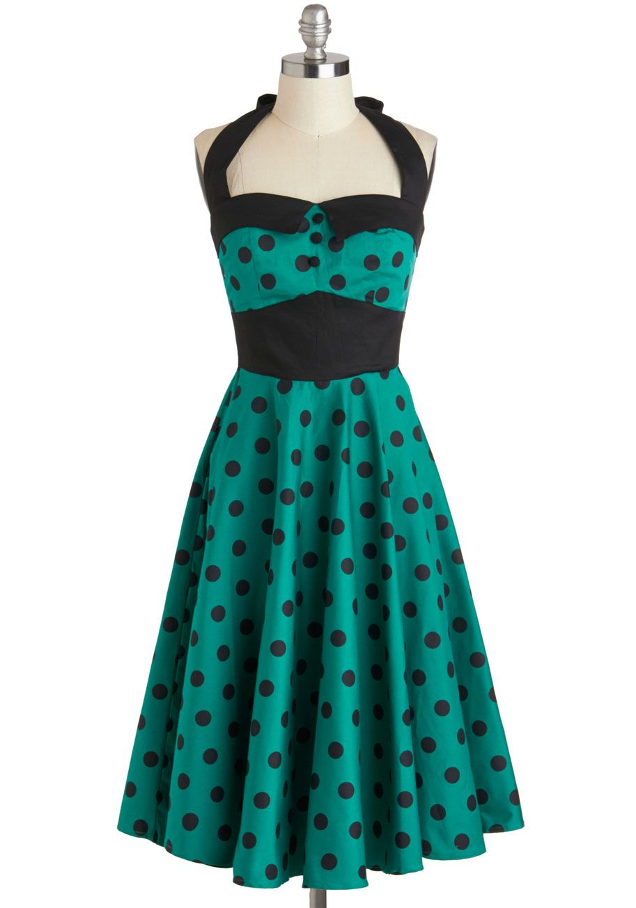 Pleated of Energy Midi Dress in Buds | Emeralds, Rockabilly and ModCloth