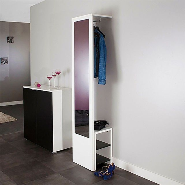 vestiaire mural avec miroir et banc reynal dans mon entr e pinterest. Black Bedroom Furniture Sets. Home Design Ideas