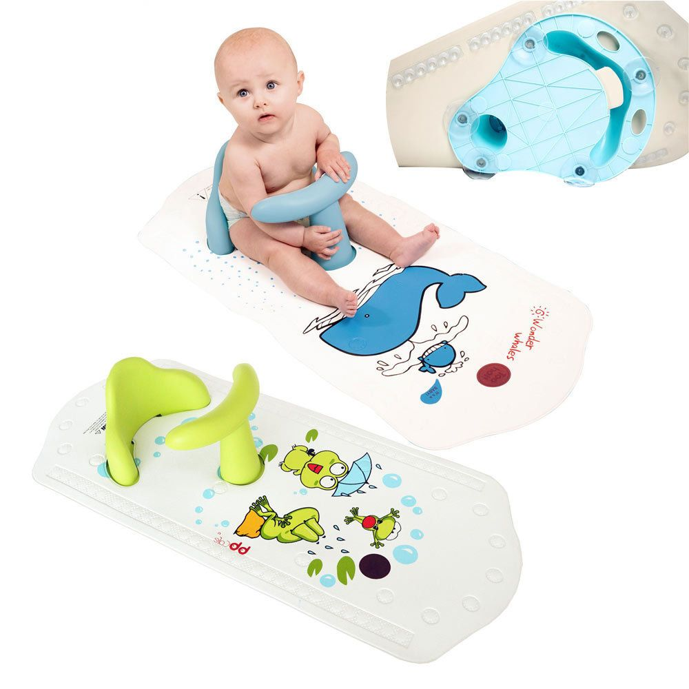 Baby Safety Bath Seat Baby Bath Chair Non Slip Bath Mat Bath Ring