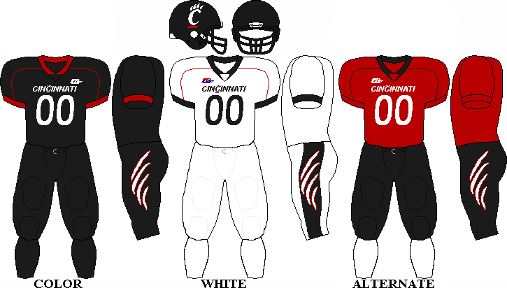 reputable site 5af28 a1397 University of Cincinnati Bearcats football team uniforms ...