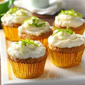 Key Lime Cupcakes Recipe -I made these light, tangy cupcakes on a chilly day to remind me of our vacation in southern Florida, where Key lime pies are star attractions. —Jennifer Gilbert, Brighton, Michigan
