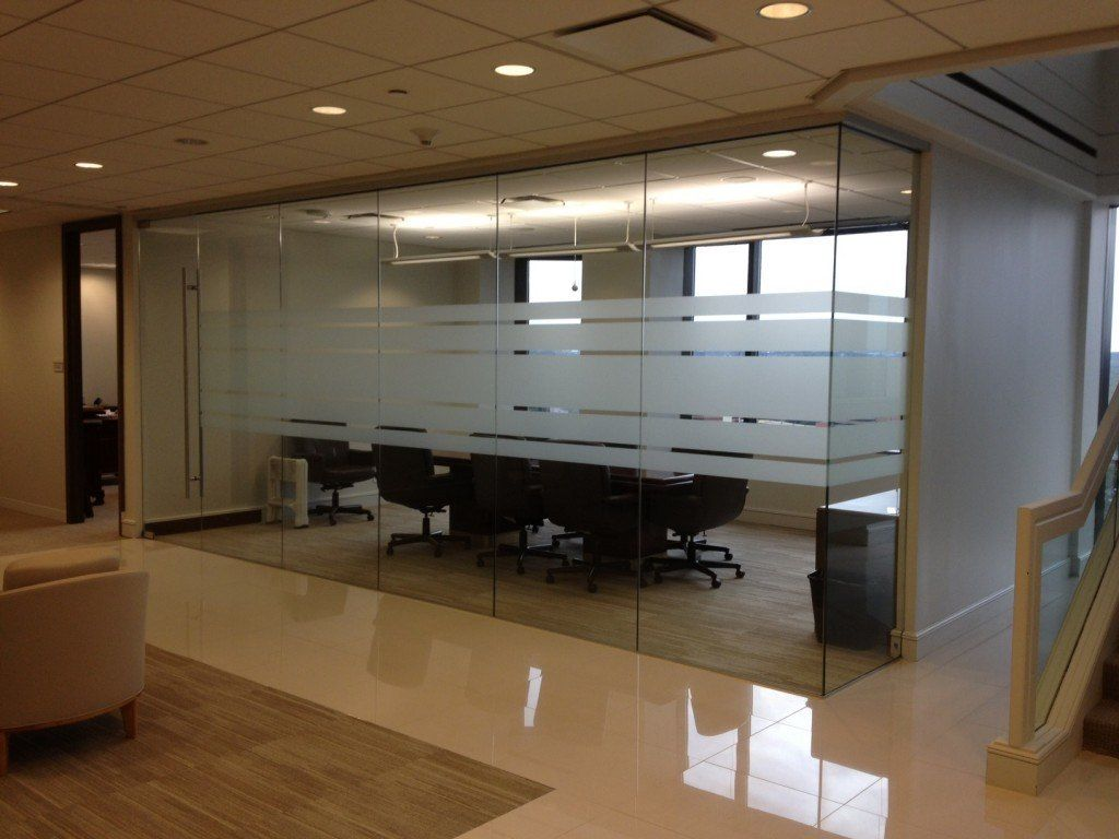 Glass Walls Frosted Glass Horizontal Strips Conference