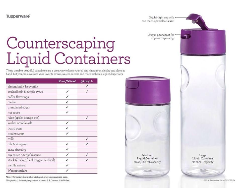 Counterscaping Liquid Containers | Tupperware | Tupperware