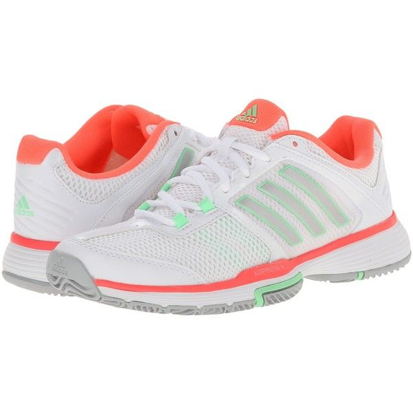 Womens Shoes adidas Barricade Team 4 White/Silver Metallic/Flash Red