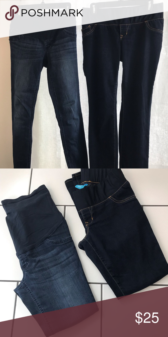 7eb11c76ec251 Maternity jeans size 2-4 2 pairs of maternity jeans. IndigoBlue size XS and