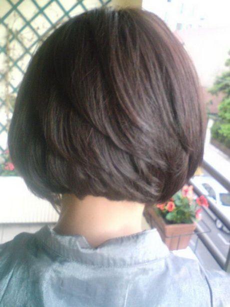 Coupe de cheveux carré court plongeant Coupe cheveux