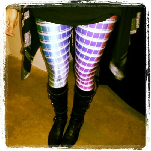 Coolest leggings I've ever seen - Paint Swatch Leggings. Paint Sample Leggings. Color Sample Leggings / Tights.