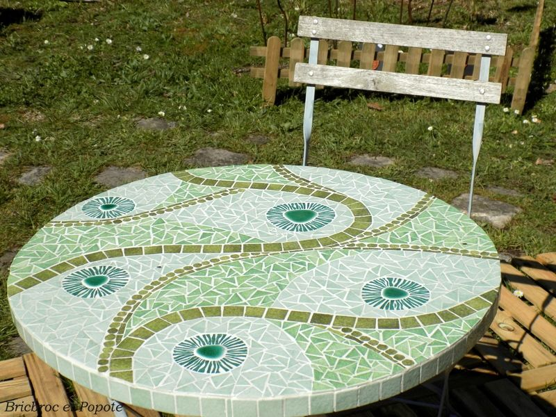 Table de jardin en mosa que mosaics pinterest table de jardin mosaique et table for Achat table de jardin mosaique