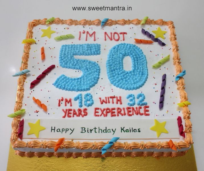 50th Birthday Cake For Man Sheet Cake Man S Sheet Cake Blue Orange