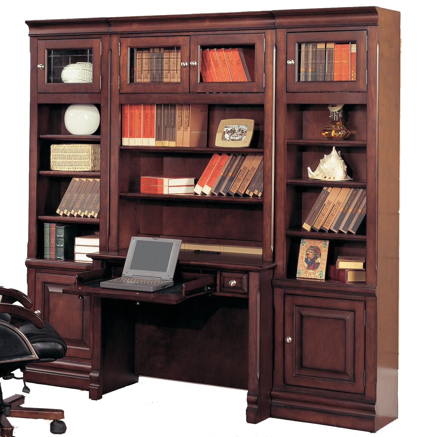 Sterling Library Desk And Bookcase Wall By Parker House