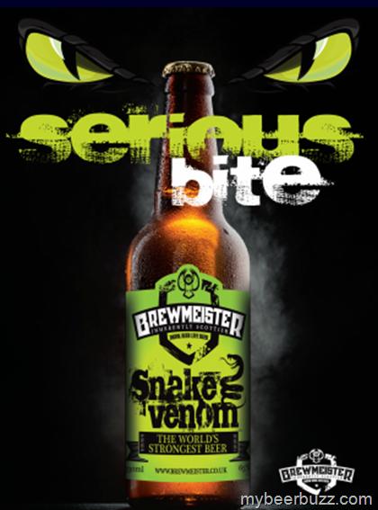 Brewmeister Releases Snake Venom - World's New Strongest Beer (67.5% ABV)