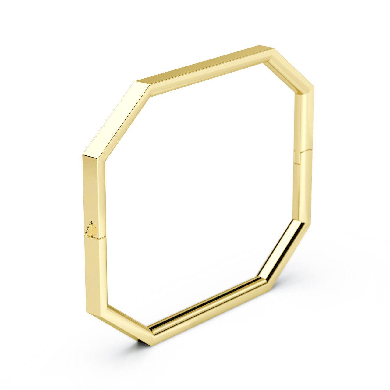 Octagon bangle bangle k gold and bracelets