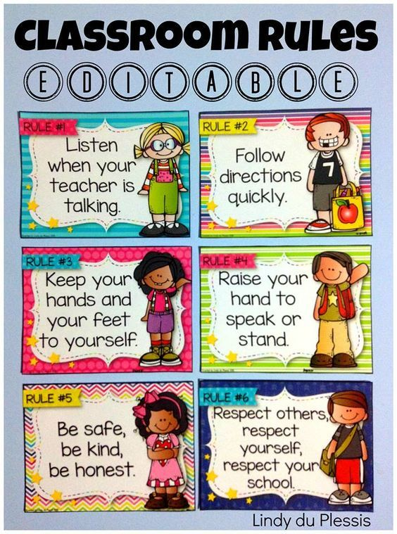 Classroom Rules (Happy and Bright Theme) Classroom rules