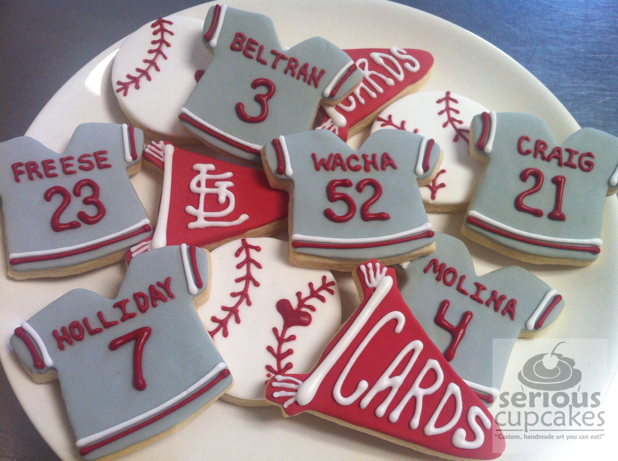 St Louis Cardinals sugar cookies by seriouscupcakescom Go