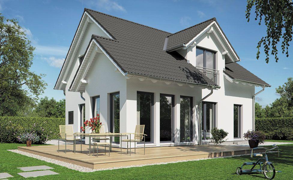 Haus bauen modern satteldach  VARIO-HAUS Family I #gibtdemLebeneinZuhause, Einfamilienhaus ...