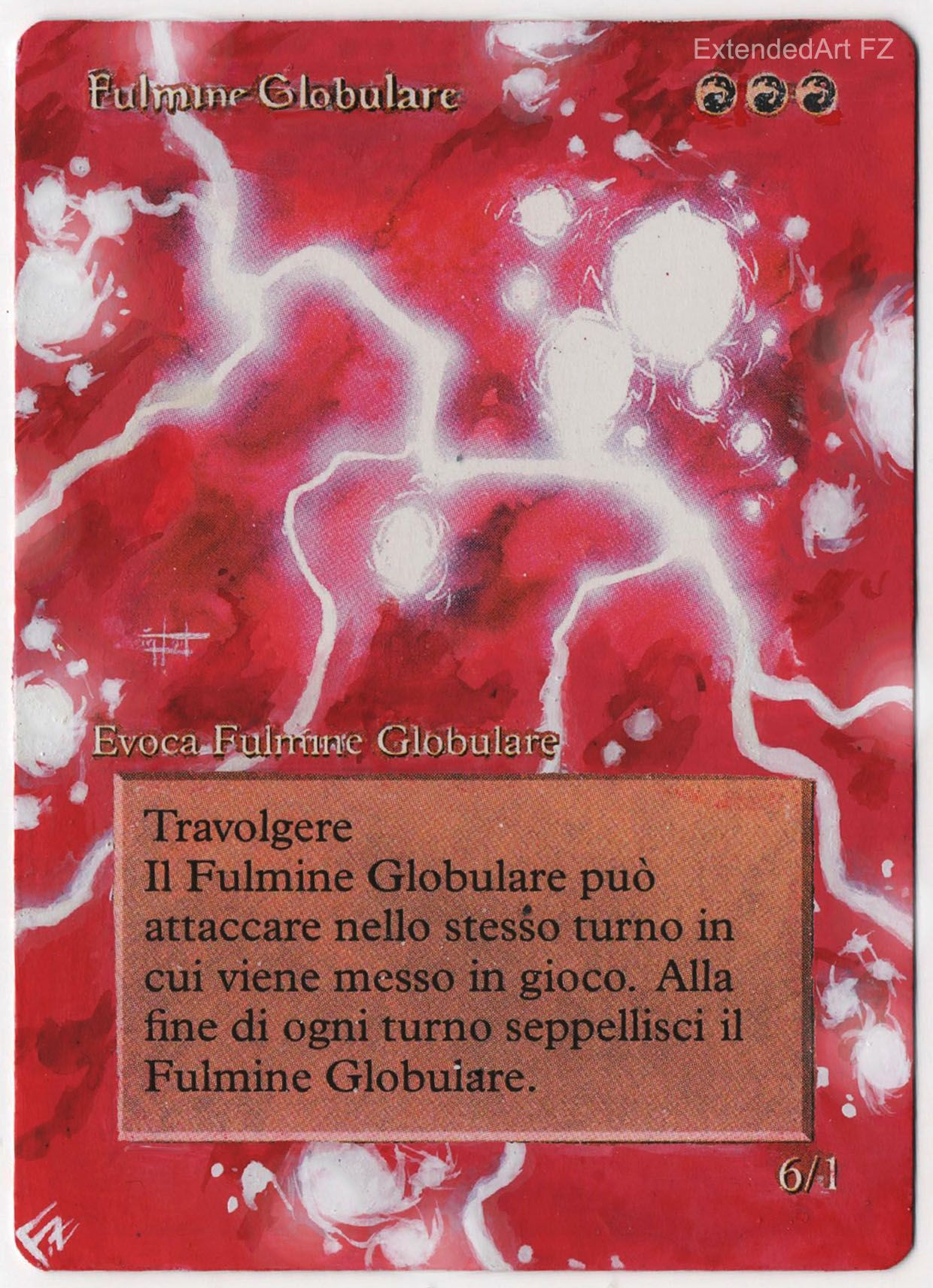 ball lightning by fz magic the gathering altered art by fz